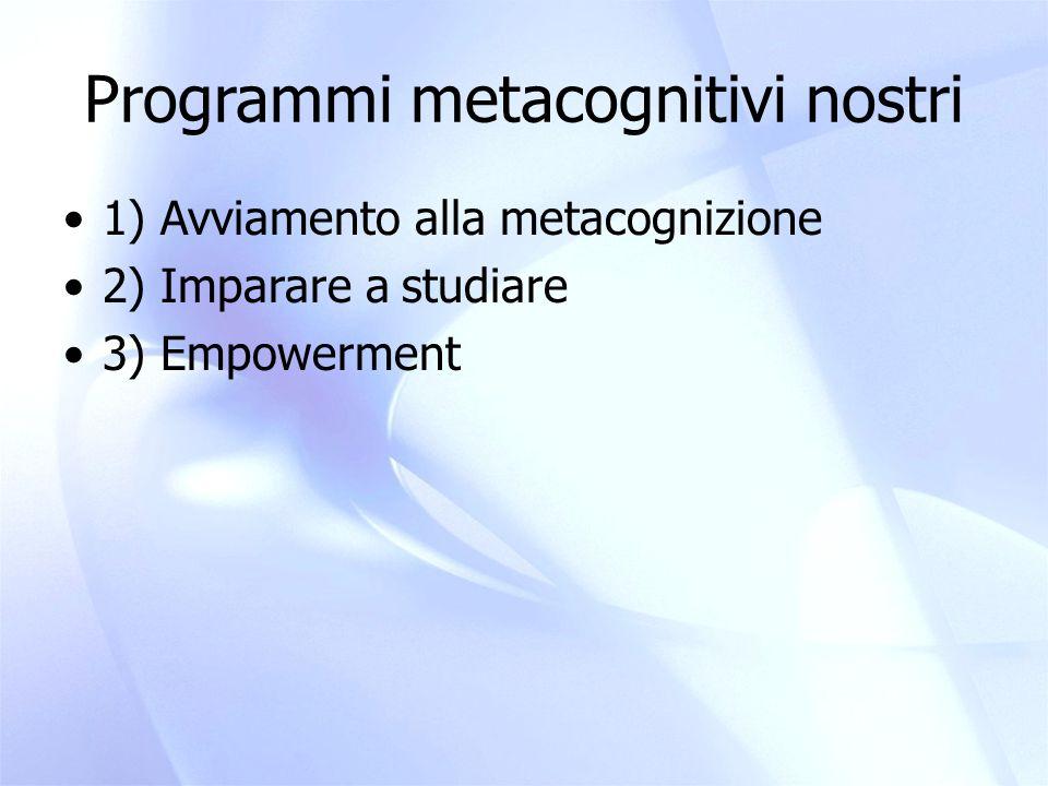 Programmi metacognitivi nostri