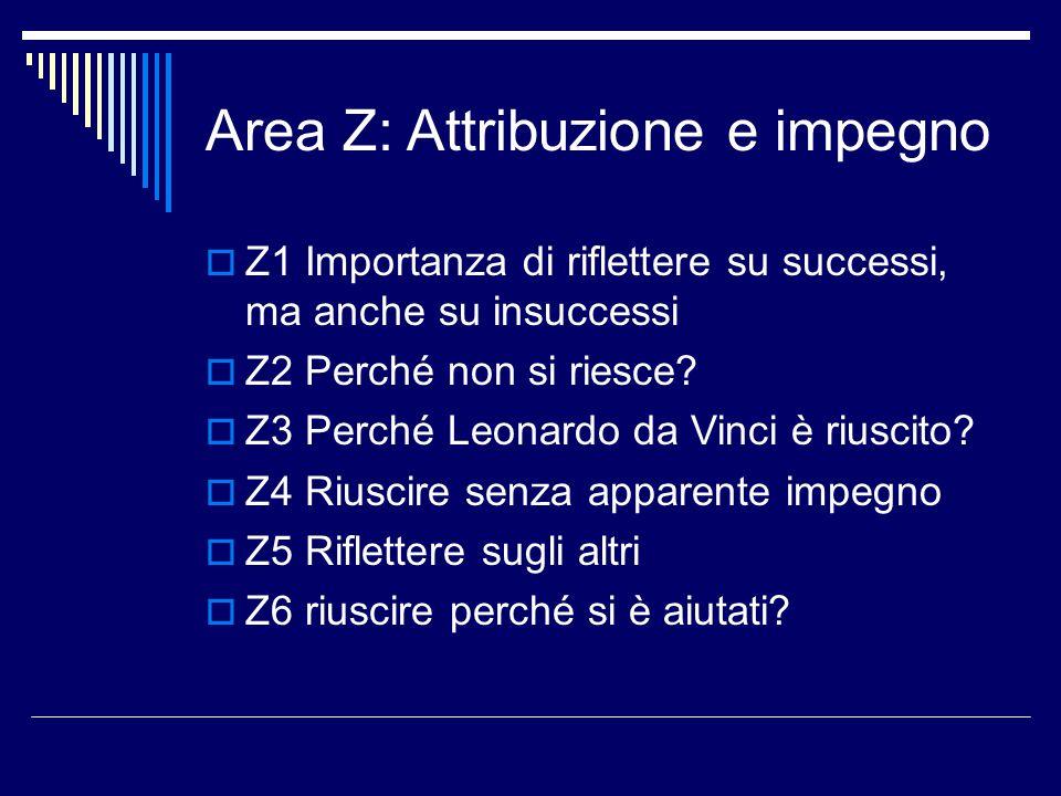 Area Z: Attribuzione e impegno