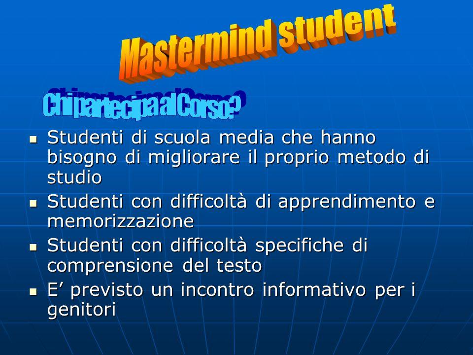 Mastermind student Chi partecipa al Corso