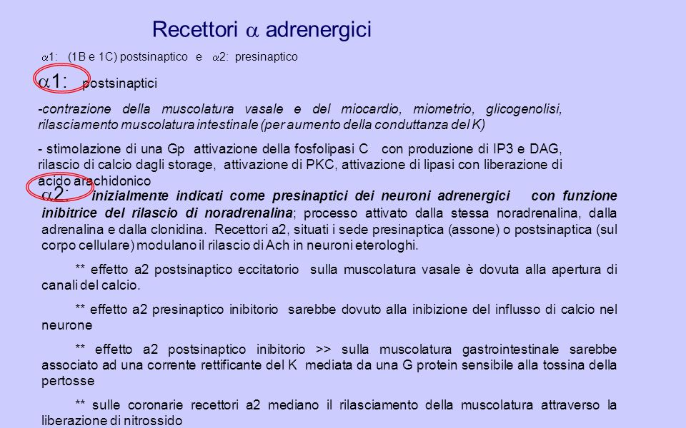 Recettori a adrenergici