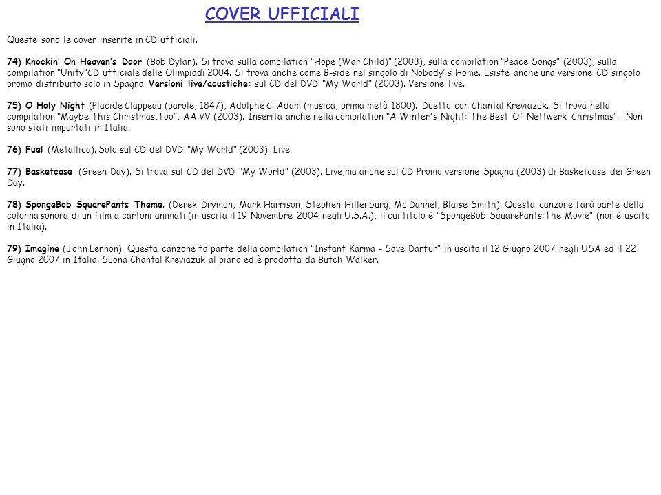 COVER UFFICIALI Queste sono le cover inserite in CD ufficiali.