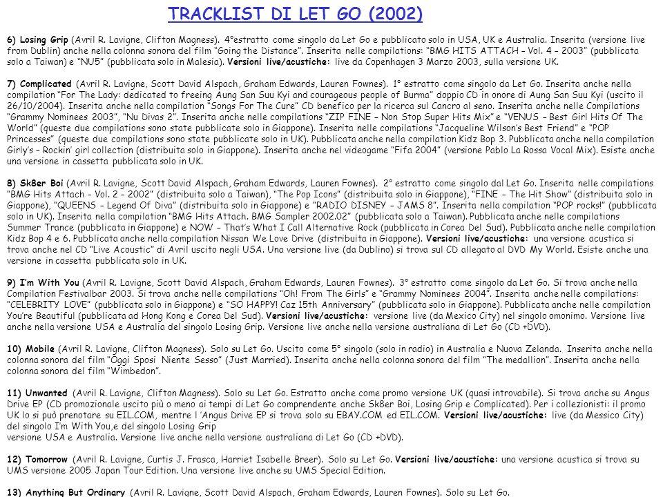 TRACKLIST DI LET GO (2002)
