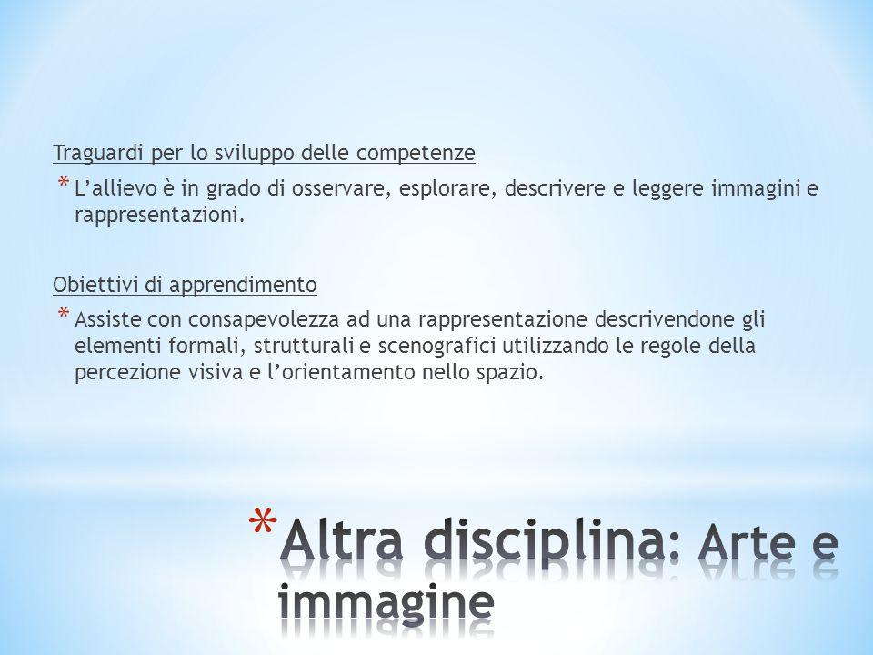 Altra disciplina: Arte e immagine