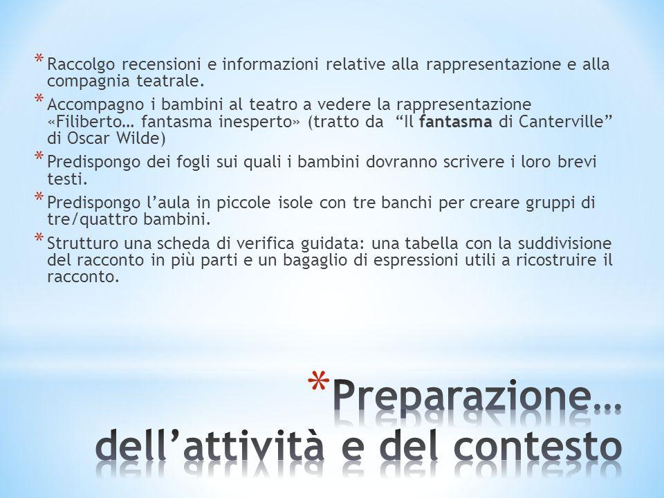 Preparazione… dell'attività e del contesto