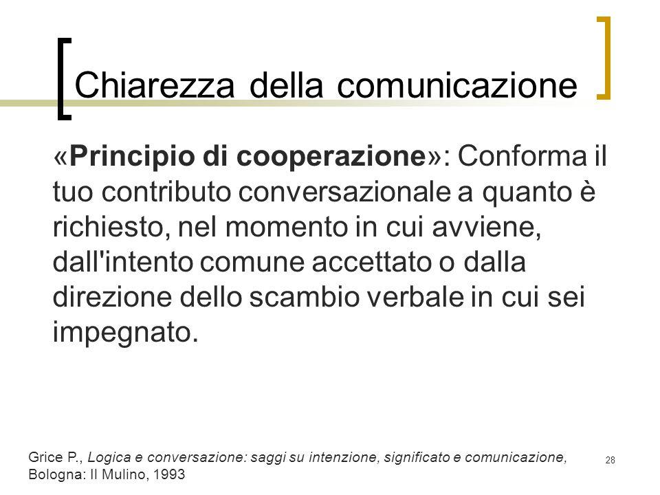 Chiarezza della comunicazione