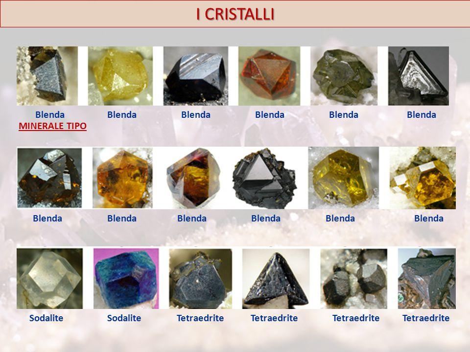 I CRISTALLI Blenda MINERALE TIPO Blenda Sodalite Tetraedrite