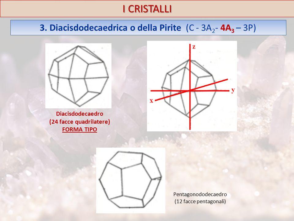 3. Diacisdodecaedrica o della Pirite (C - 3A2- 4A3 – 3P)