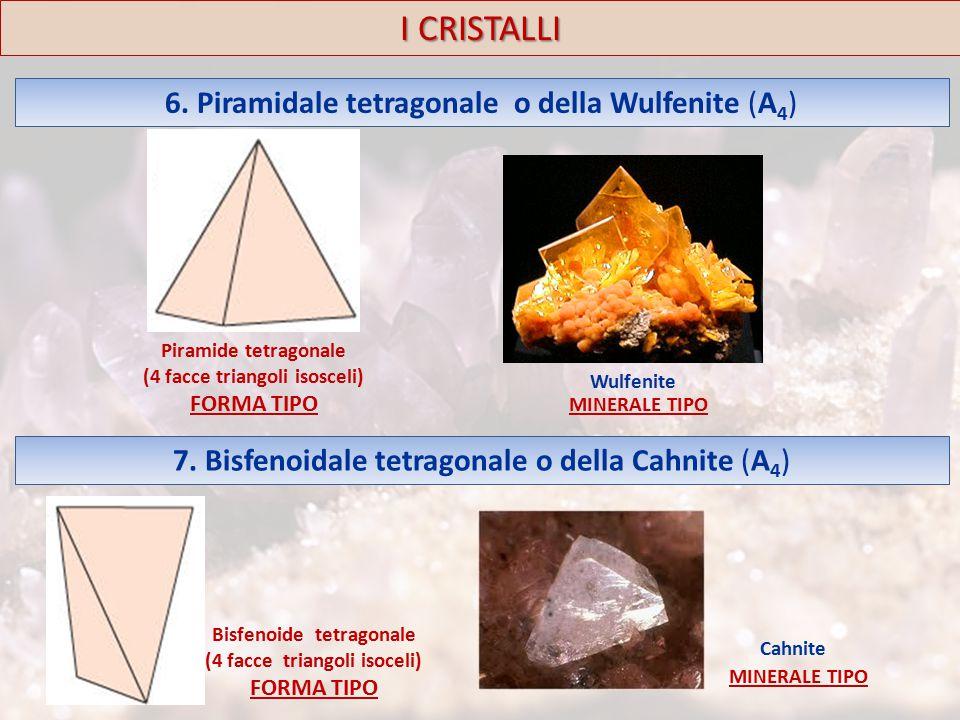 I CRISTALLI 6. Piramidale tetragonale o della Wulfenite (A4)