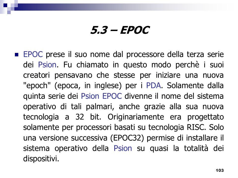 5.3 – EPOC