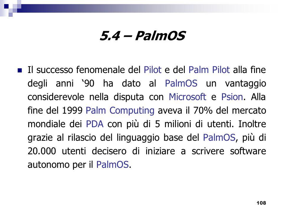 5.4 – PalmOS