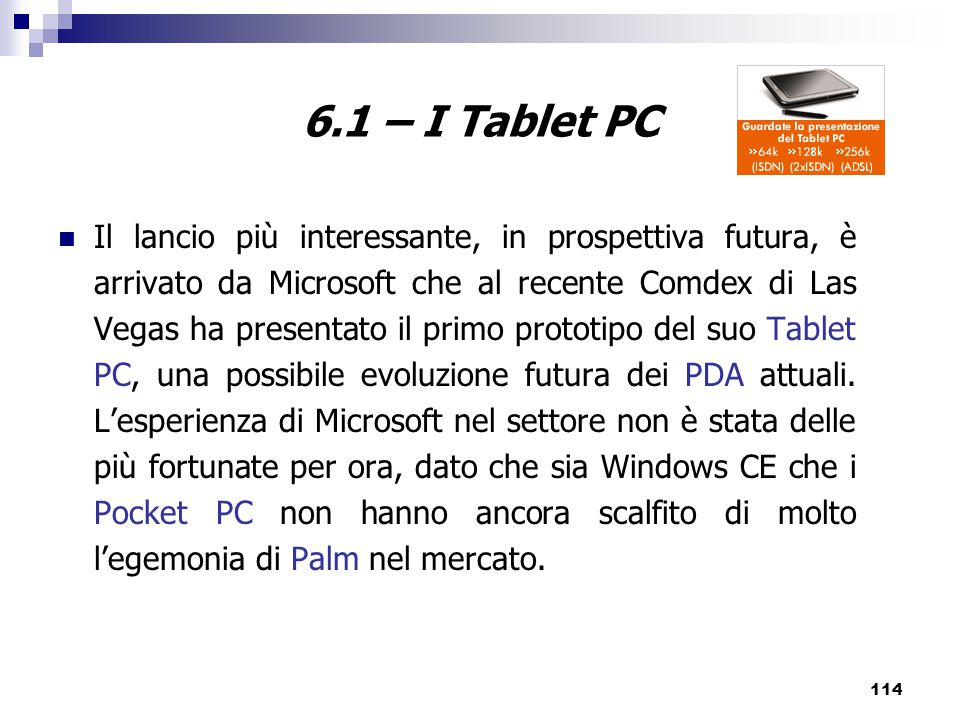 6.1 – I Tablet PC