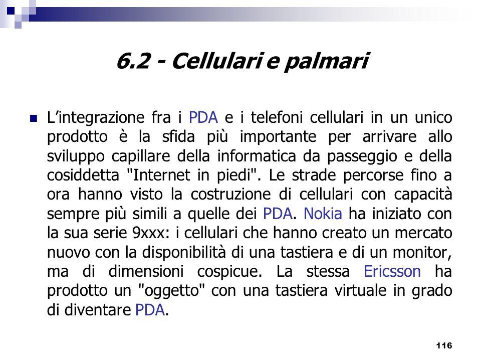 6.2 - Cellulari e palmari