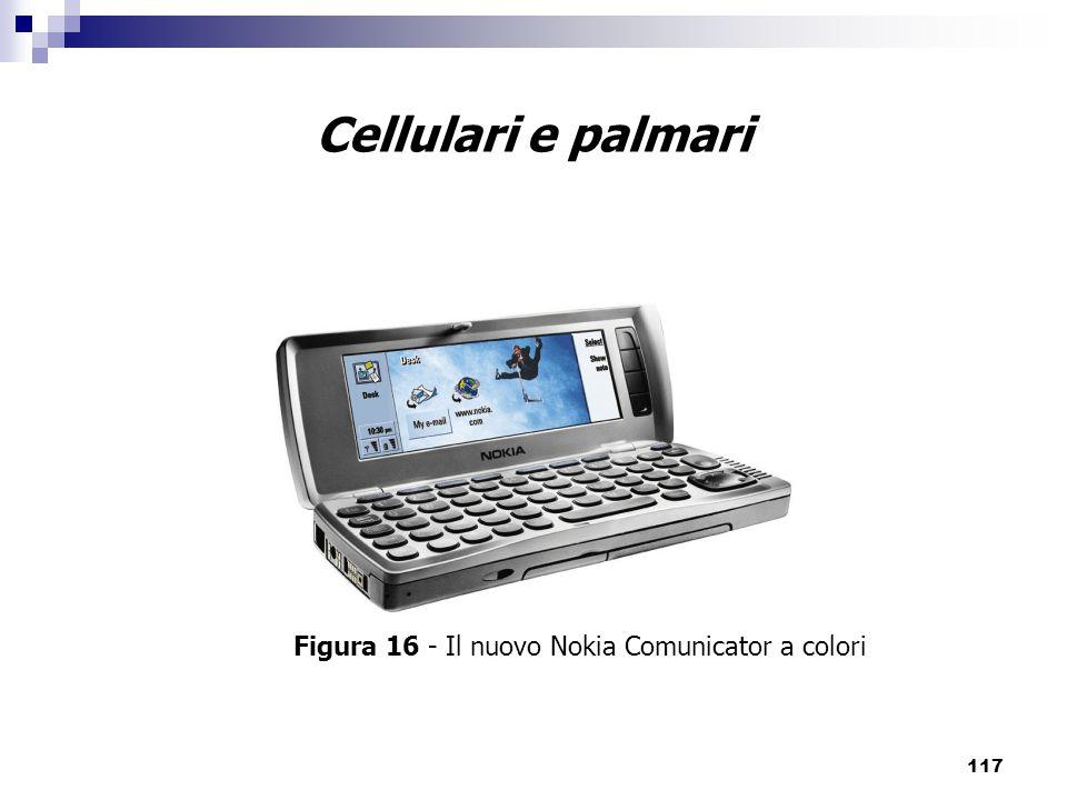 Cellulari e palmari Figura 16 - Il nuovo Nokia Comunicator a colori