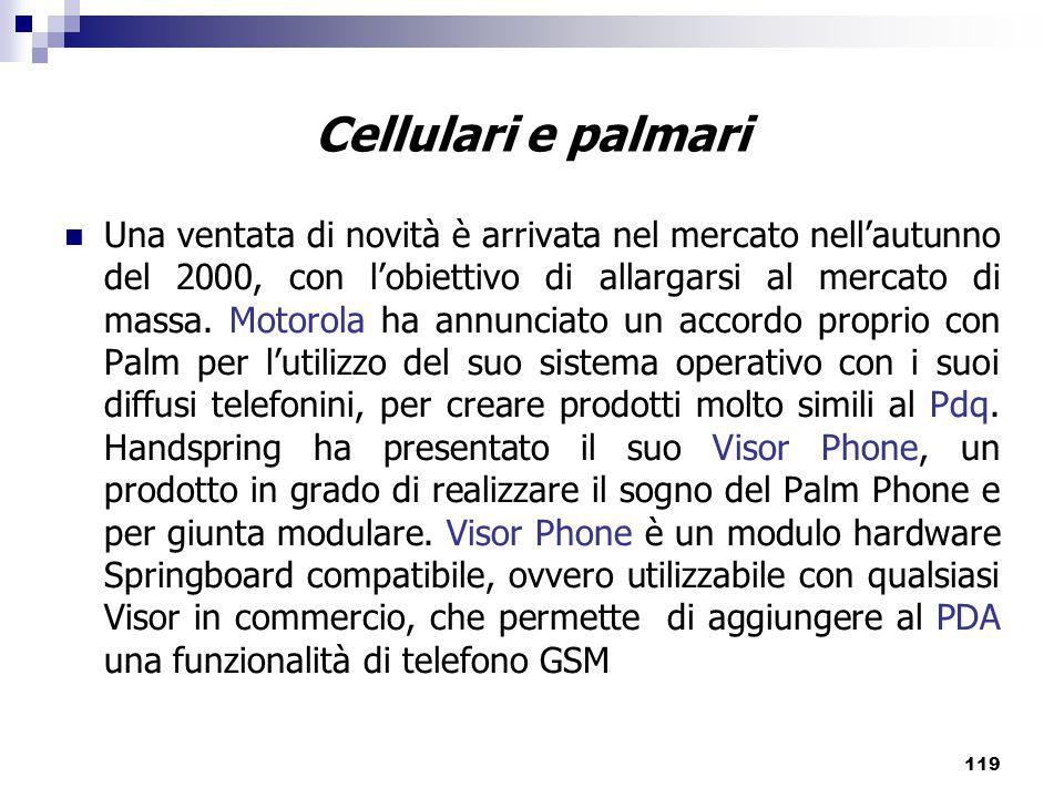Cellulari e palmari