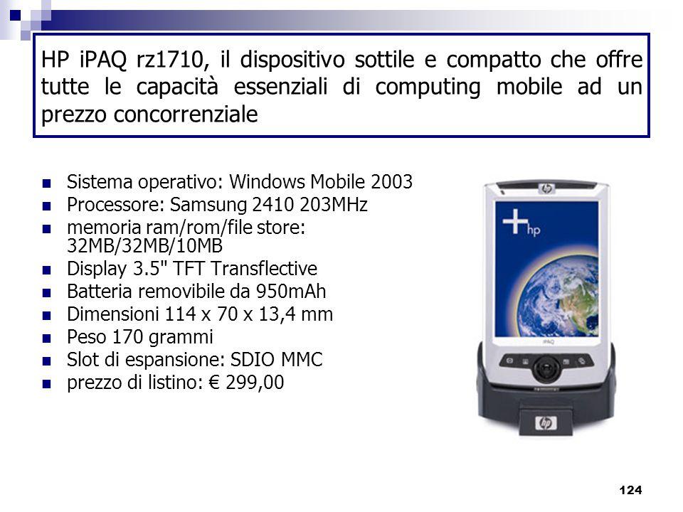 HP iPAQ rz1710, il dispositivo sottile e compatto che offre tutte le capacità essenziali di computing mobile ad un prezzo concorrenziale