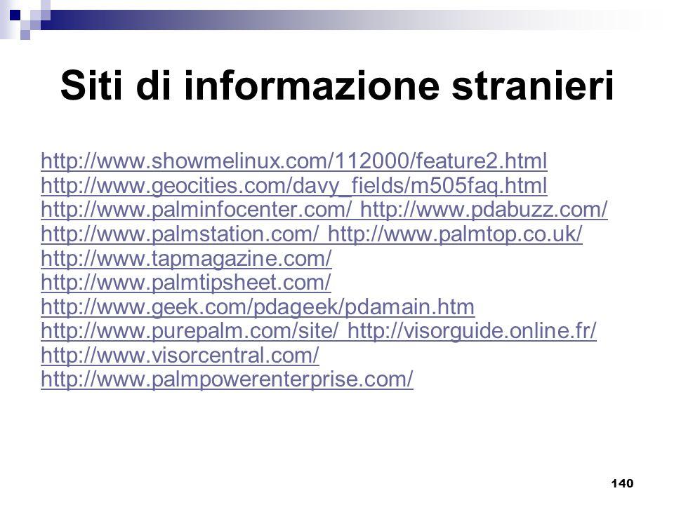 Siti di informazione stranieri