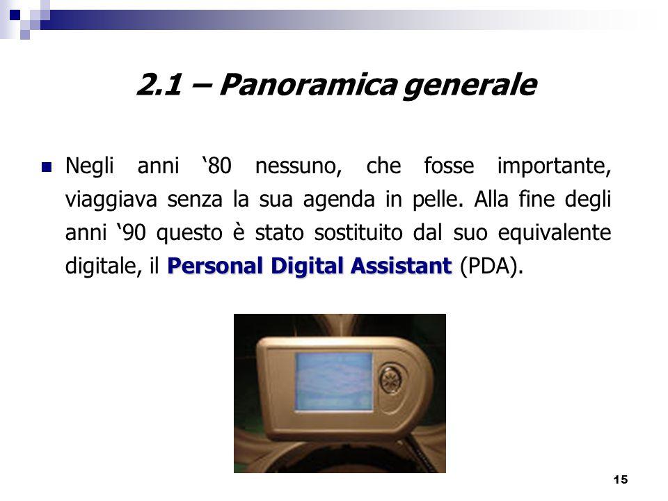 2.1 – Panoramica generale