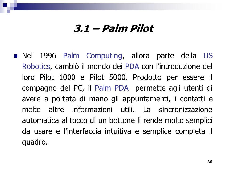 3.1 – Palm Pilot