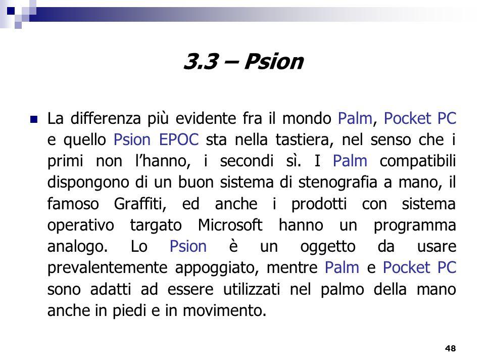 3.3 – Psion