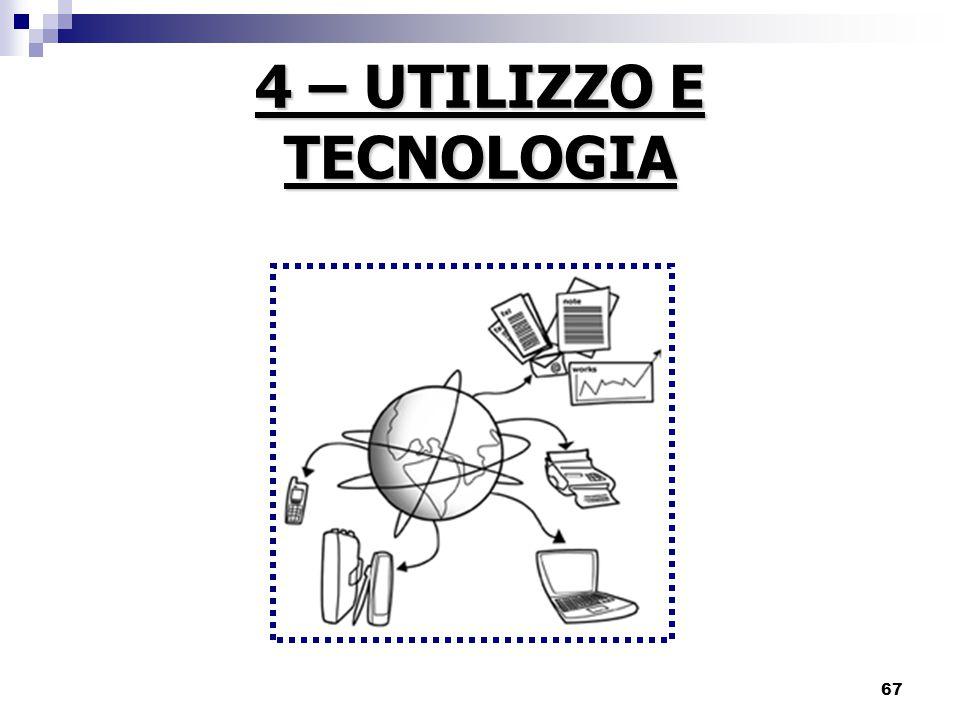4 – UTILIZZO E TECNOLOGIA
