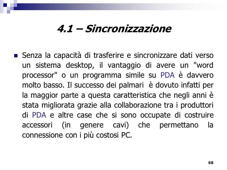 4.1 – Sincronizzazione