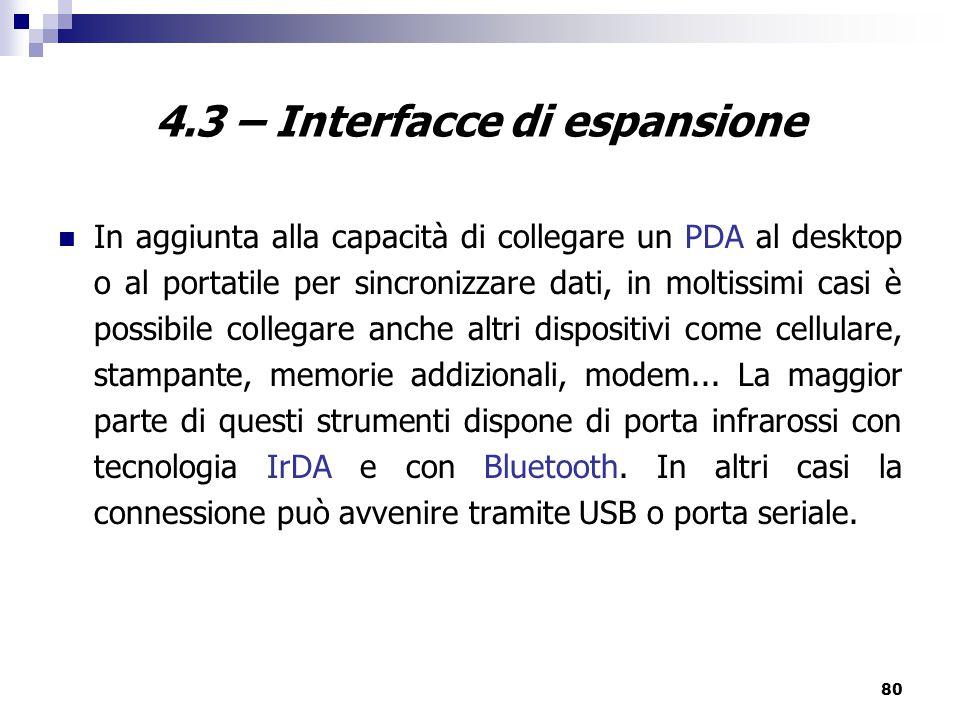 4.3 – Interfacce di espansione