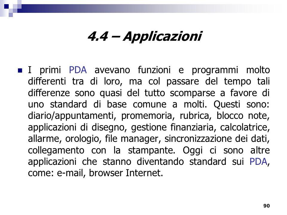 4.4 – Applicazioni