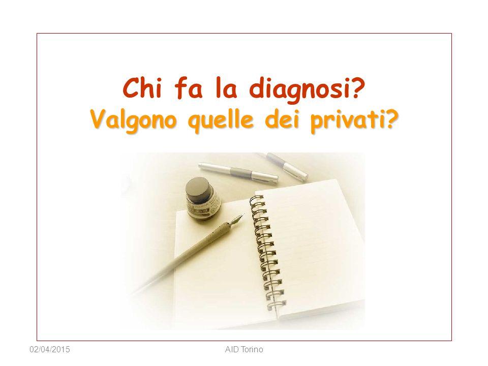 Chi fa la diagnosi Valgono quelle dei privati