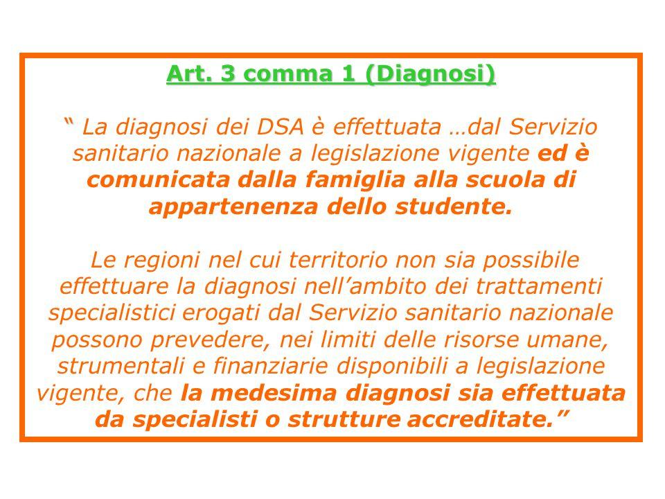 Art. 3 comma 1 (Diagnosi)