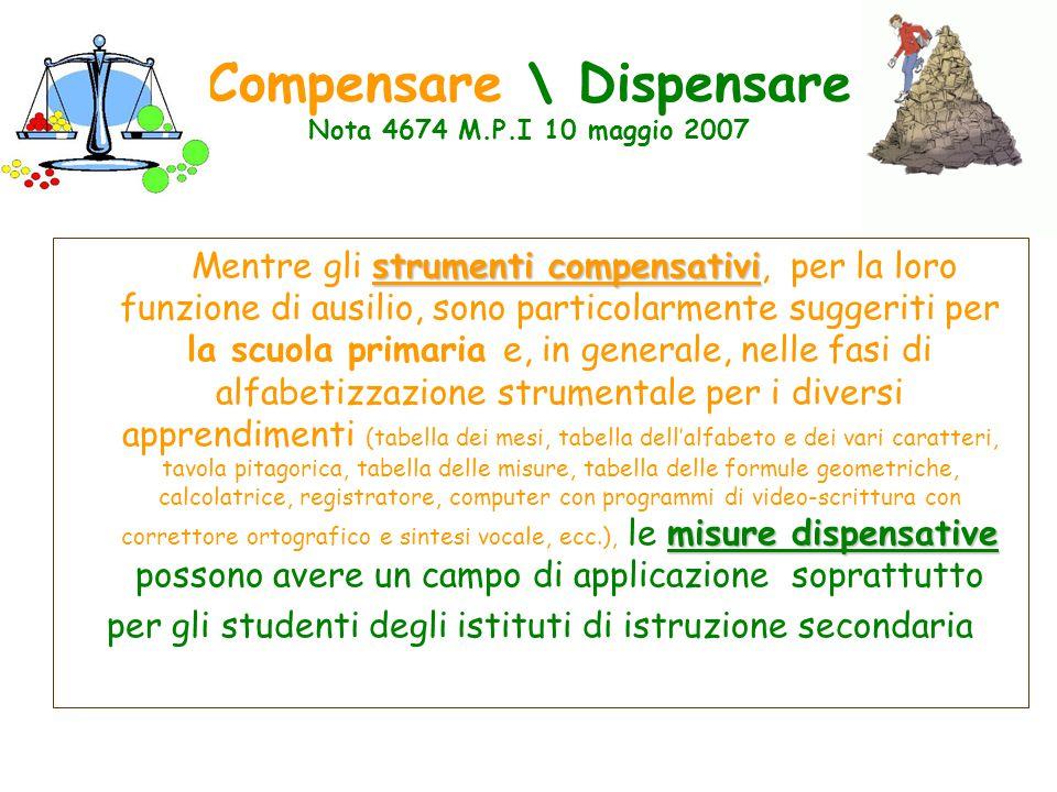 Compensare \ Dispensare Nota 4674 M.P.I 10 maggio 2007