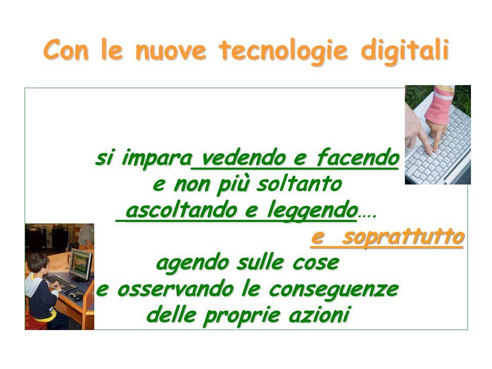 Con le nuove tecnologie digitali