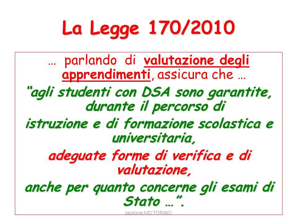La Legge 170/2010