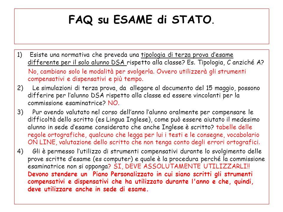 FAQ su ESAME di STATO.