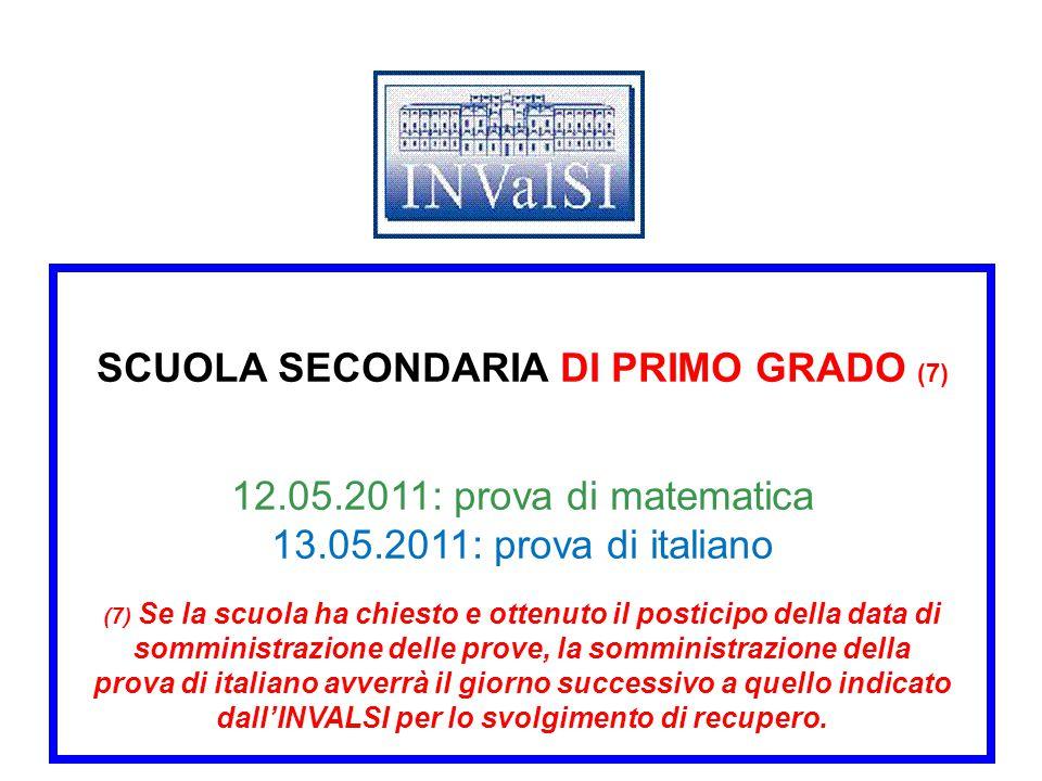 SCUOLA SECONDARIA DI PRIMO GRADO (7) 12. 05