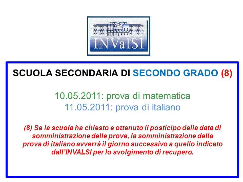 SCUOLA SECONDARIA DI SECONDO GRADO (8) 10. 05