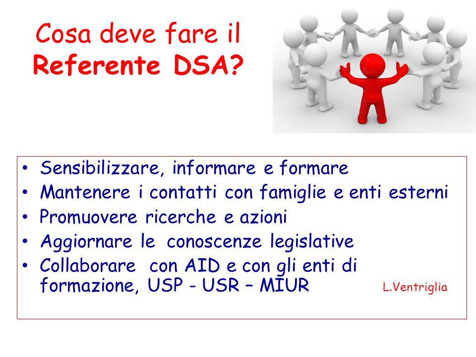 Cosa deve fare il Referente DSA