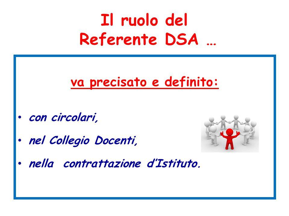 Il ruolo del Referente DSA …