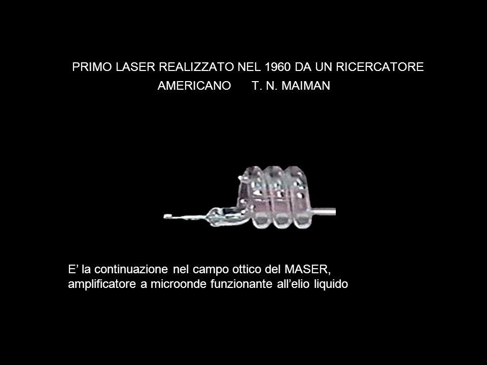 PRIMO LASER REALIZZATO NEL 1960 DA UN RICERCATORE AMERICANO T. N