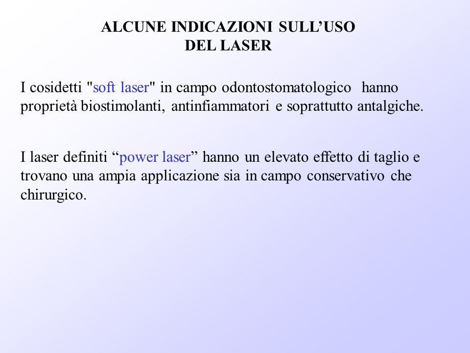 ALCUNE INDICAZIONI SULL'USO