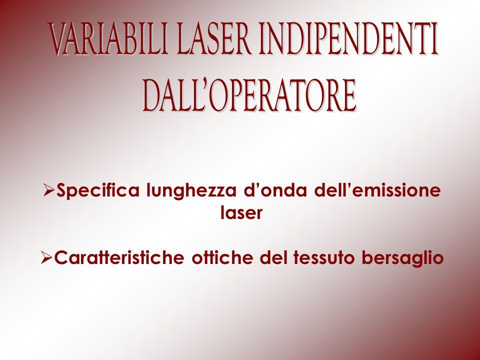 VARIABILI LASER INDIPENDENTI DALL'OPERATORE