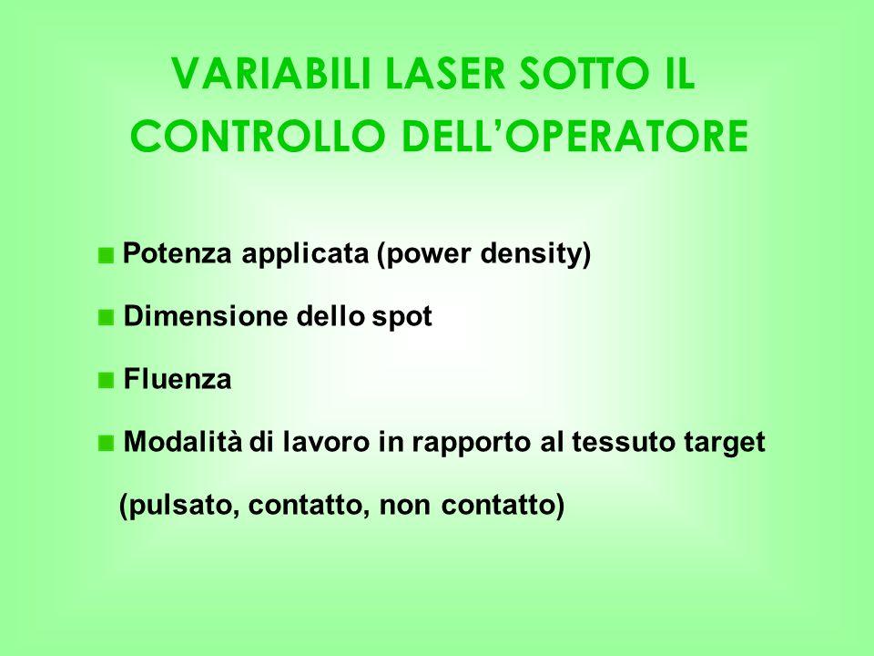 VARIABILI LASER SOTTO IL CONTROLLO DELL'OPERATORE