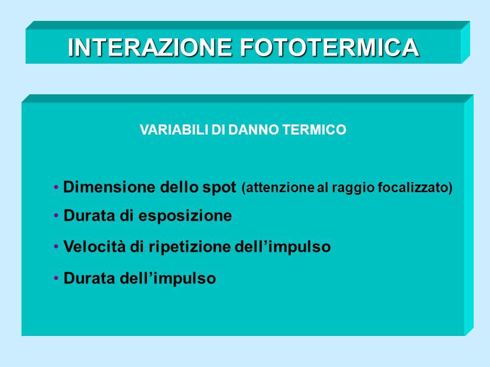 INTERAZIONE FOTOTERMICA VARIABILI DI DANNO TERMICO