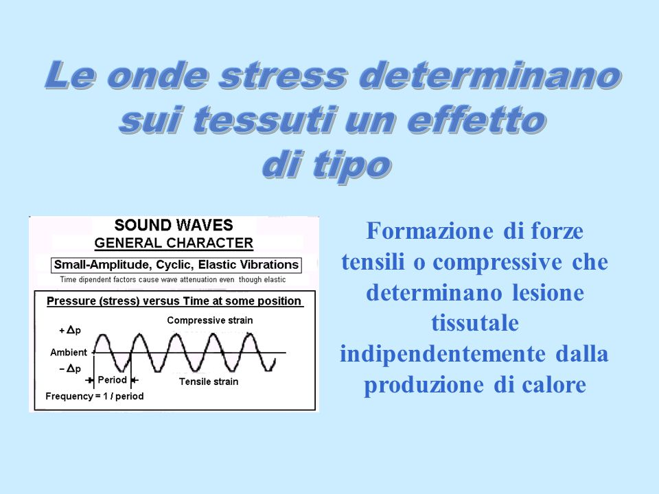 Le onde stress determinano