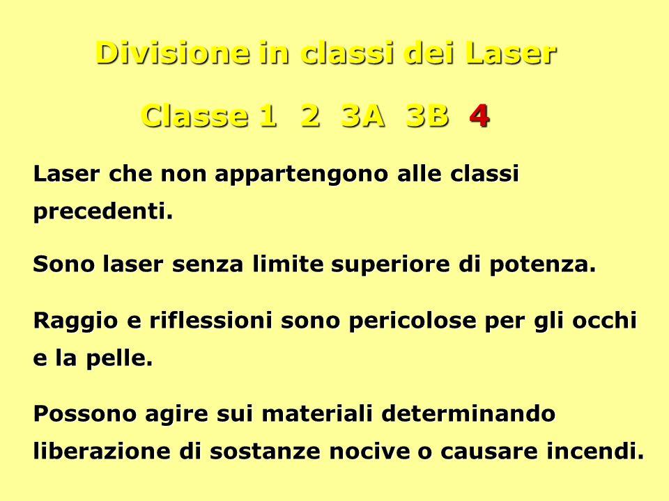 Divisione in classi dei Laser