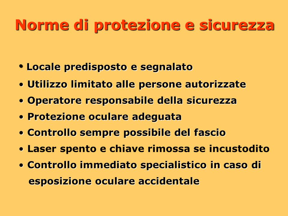 Norme di protezione e sicurezza