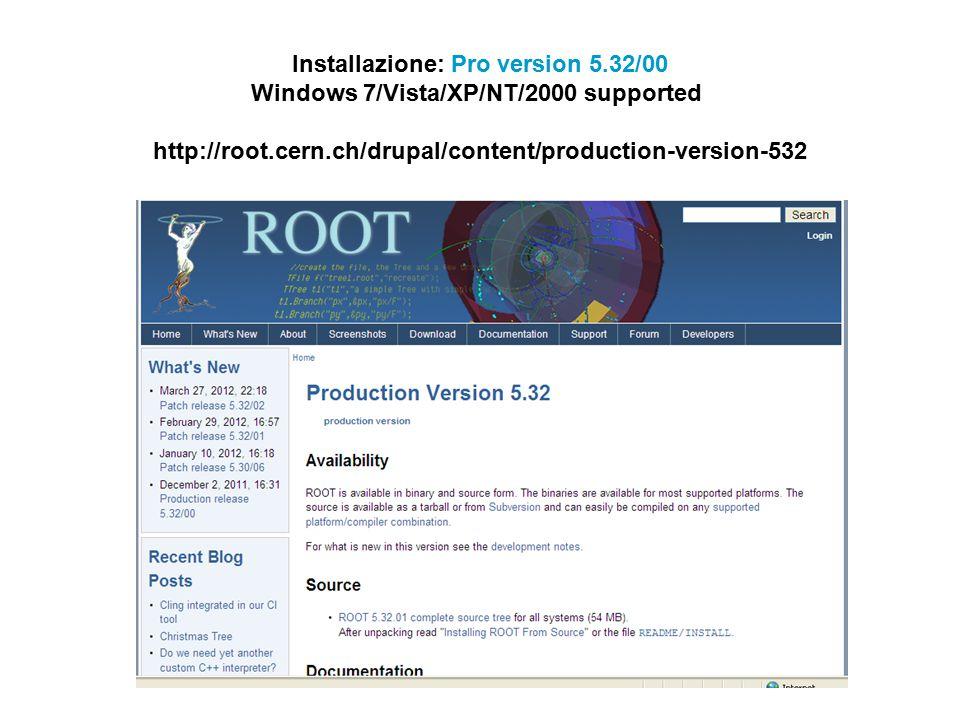 Installazione: Pro version 5.32/00