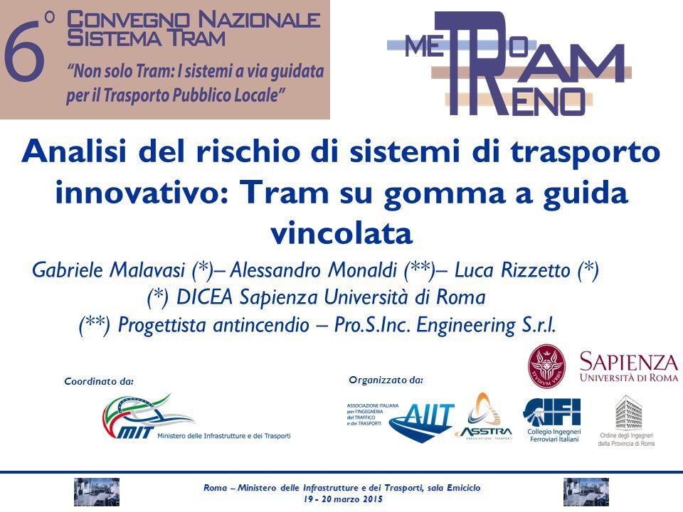 Analisi del rischio di sistemi di trasporto innovativo: Tram su gomma a guida vincolata