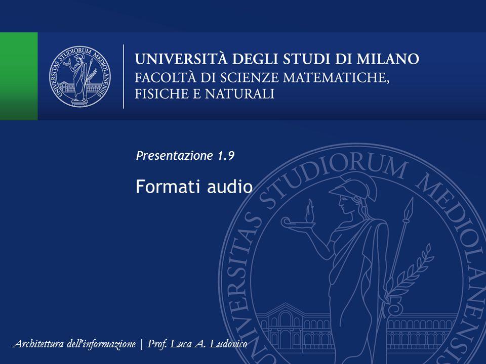 Formati audio Presentazione 1.9