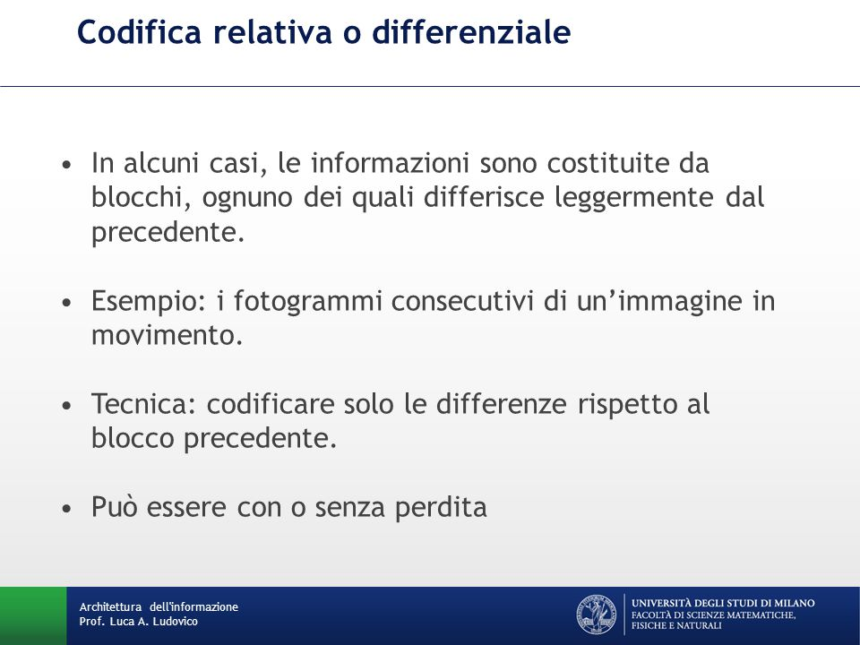 Codifica relativa o differenziale