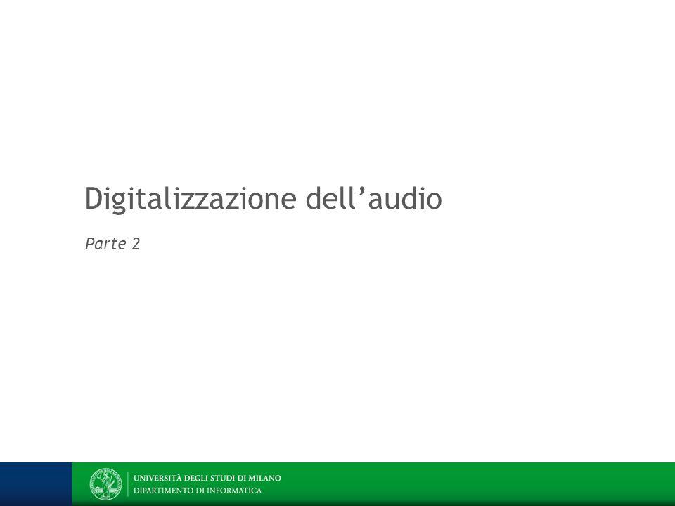 Digitalizzazione dell'audio